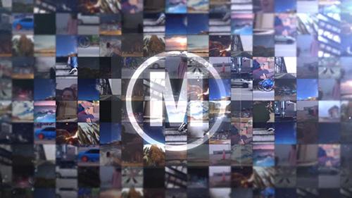 视频墙二维动态介绍AE模板 Video Wall Intro