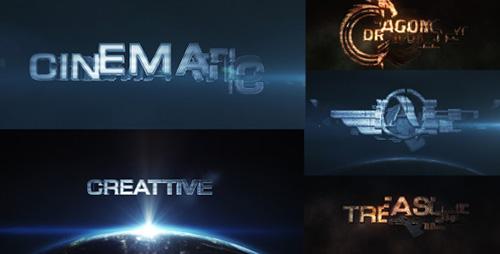 史诗电影3D高级转换动画外观工具栏目包装AE模板 Cinematic Trans