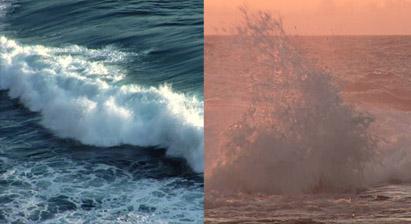 2组大海海浪翻滚 海面上波涛汹涌高清实拍视频素材