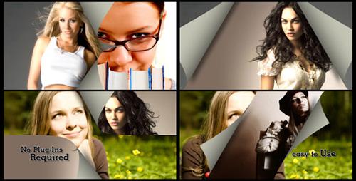 纸张翻页转场划屏特效切换动画视频素材 Transitions Pack 07