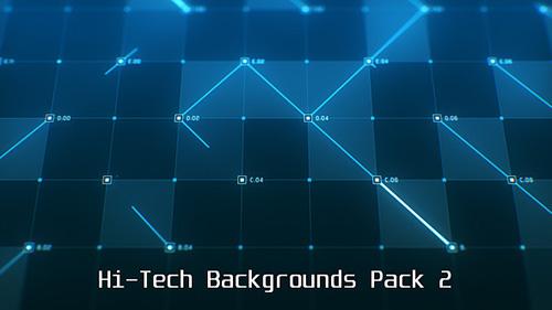 36组方格数据线条科技动态背景视频 Hi-Tech Backgrounds Pack 2