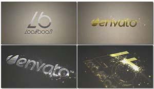 絢麗奪目金黃粒子特效LOGO標志展示AE模板 Organic Particle Logo