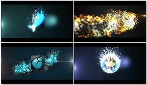 超炫发光粒子LOGO标记火焰熄灭殊效展现包装c4d模子