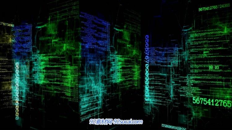 高科技網絡信息數字城市空間高清視頻素材 Cyber City
