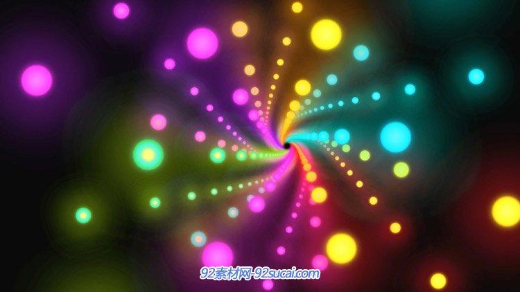 动感闪烁发光霓虹粒子隧道 大气酒吧夜总会高清动态背景视频