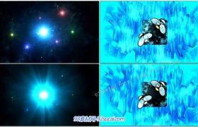 ProShow模板 震撼冰雪奇缘风格冰冻星球动画LOGO标志展示 Frozen Star