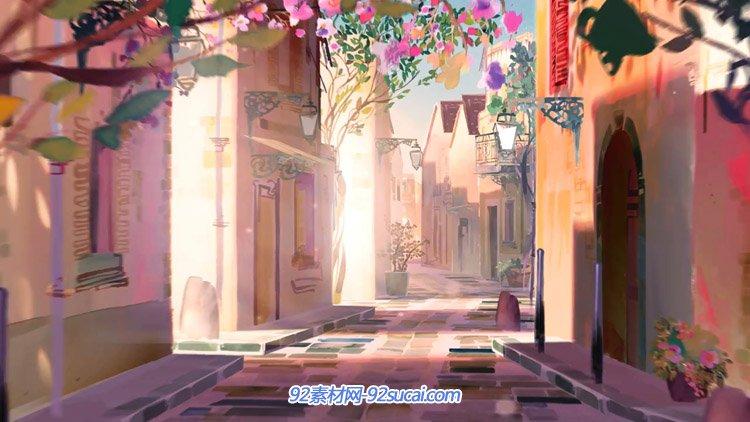 欧舒丹护肤品广告片 梦幻的童话庄园公主舞会动态视频
