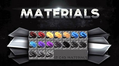 C4D模型 视频素材画面屏幕栏目包装材质贴图合集