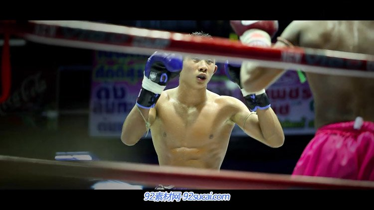 泰国曼谷漫步拳击比赛宣传片 城市街道车流人物流动人群高清实拍