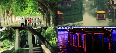 南京城市人文自然山水旅游风光街上行人车流人流城市夜景高清实拍