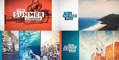 AE模板  回忆画面风格家庭旅游电子相册幻灯片特效转场 AE素材