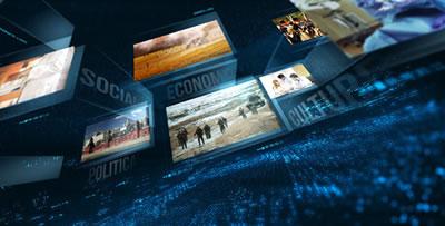 AE模板 电视新闻广播视频墙包装展示 AE素材