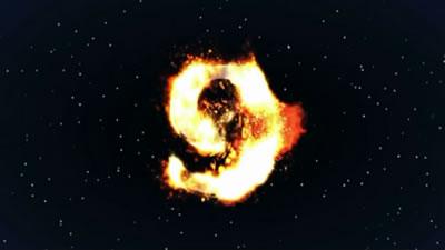 视频素材 通用高清劲爆燃烧倒计时10秒震撼演示