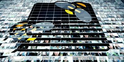 AE模板 企业公司团队人物信息介绍照片墙翻转LOGO标志展示 AE素材