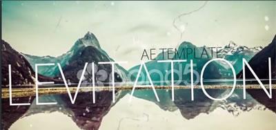 AE模板 电子相册幻灯片浪漫雪花飞舞背景渲染栏目包装展示 AE素材