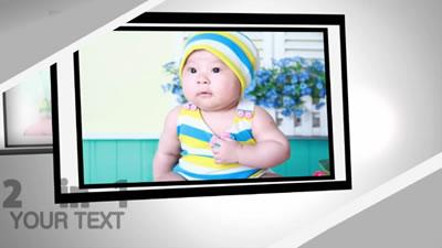 會聲會影X6電子相冊模板 寶寶成長記錄仿AE模板特效