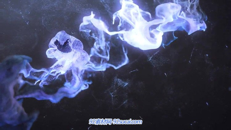 佳构顶级水墨粒子烟雾霓虹幻化 震撼的烟雾扮演静态视频素材
