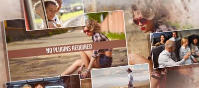 AE模板 夏天旅游电子相册照片栏目包装展示 AE素材