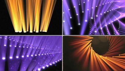 动感大气震撼绚丽变幻的舞台灯光激光秀舞台背景动态视频(有音乐)