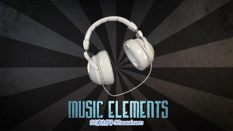 AE模板 音乐元素舞蹈课外宣传乐器笔墨引见字幕标题展现 AE素材