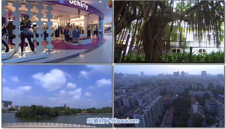 湛江人文风景城市风光面貌建筑标记雕塑交通轮船商场楼群高清实拍