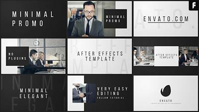 AE模板 企业商务合作开会洽谈握手幻灯片栏目包装展示 AE素材