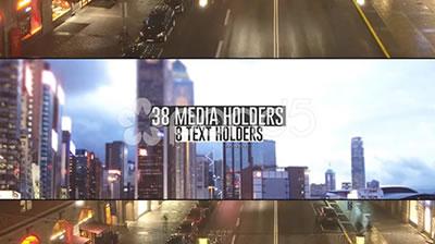 AE模板 城市生活屏幕快速跳转人群车流 AE素材