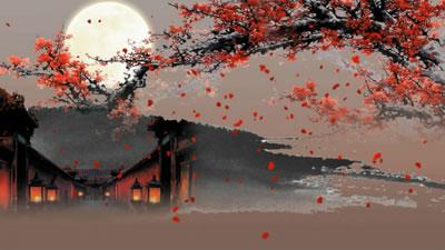视频素材 月亮粒子云十五中秋晚会舞蹈大屏幕舞台演出vj背景图片