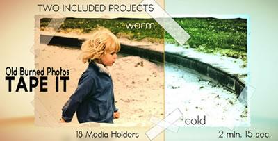 AE模板 电子相册折叠式幻灯片展示照片卷角拍摄特效转场 AE素材