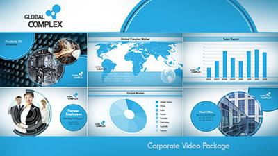 AE模板 企业公司团队职员信息引见圆圈头像笔墨引见 AE素材