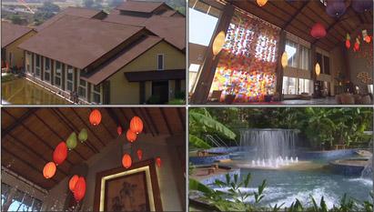 茂名御水古温泉休闲娱乐旅游度假室内优雅水池优美环境高清实拍