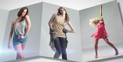 AE模板 折叠式电子相册反射服装展览近距离展示 AE素材