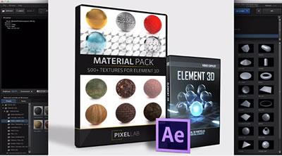 AE插件 像素虚拟材料包装三维元素3DV2 AE素材