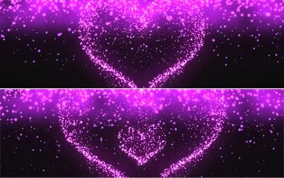 唯美梦幻粒子心形幻影全息婚礼视频素材 最新裸眼3D动态背景视频