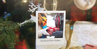 AE模板 圣诞节快乐节日祝福礼包明信片动态视频展示 AE素材