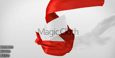 8组红绸缎飘带 白绸缎飘带交替运动动画视频素材(带通道)