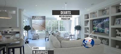 AE模板 房地产推广房租信息介绍广告促销宣传字幕标题 AE素材