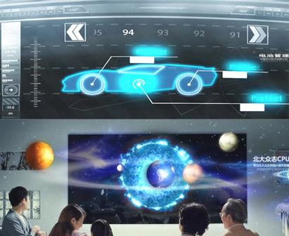 常州科技城 智慧创造生活 智能节能建筑云电视无人驾驶实拍视频