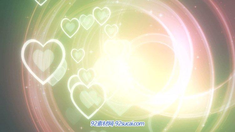 爱心粒子闪烁光圈飞舞 唯美浪漫?#24149;?#31036;婚庆动态视频背景素材