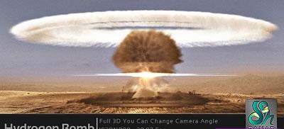 AE模板 震撼电影节目开场片头片段氢原子弹爆炸全过程 AE素材