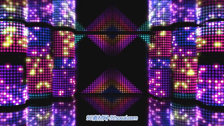 动感炫丽节奏矩阵led舞台背景 酒吧夜场歌曲背景VJ师动态视频