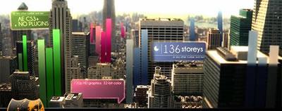 AE模板 電影節目城市生活宣傳地點信息介紹片頭 AE素材