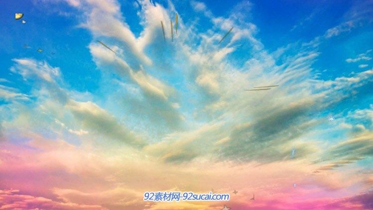 星空灿烂天空云海星光四射 LED舞台配景VJ师静态视频素材