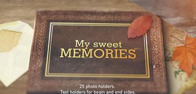 AE模板 复古样式回忆风格幻灯片屏幕切割特效转场展示 AE素材