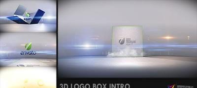 AE模板 震撼3DLOGO标记三维款式盒子包装地面坠落爆展开示 AE素材