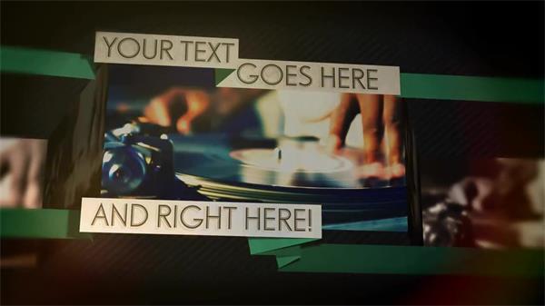AE模板 现代炫光转场特效丝带悬挂字幕图片展示模板 AE素材