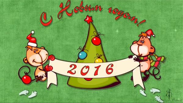 AE模板 2016卡通调皮小猴圣诞相册展示模板 AE素材