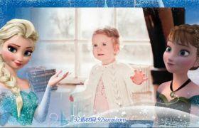 ProShow模板 魔幻绚丽冰雪奇缘剪辑相册展示模板