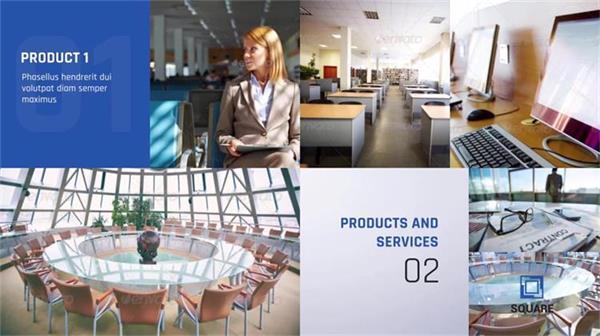 AE模板 酷炫方格立方体图文企业公司品牌宣传业绩展示模板 AE素材
