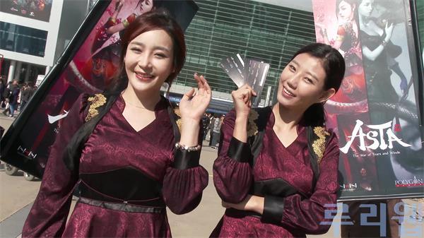 韩国游戏展会美女模特超清实拍